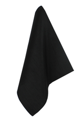 BLACK SILK DRESS HANDKERCHIEF