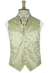 Light gold feather waistcoat with lapel
