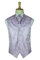 Lavender paisley waistcoat with lapel