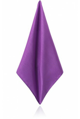 PURPLE POLY DUPION HANDKERCHIEF