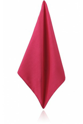 HOT PINK POLY DUPION HANDKERCHIEF