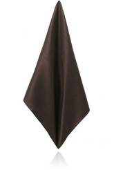 CHOCOLATE BROWN POLY DUPION HANDKERCHIEF