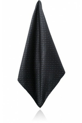 BLACK/BLUE GLITTER DOTS SILK JACQUARD HANDKERCHIEF
