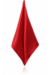 RED POLY SATIN HANDKERCHIEF