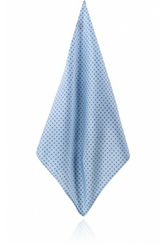 MANOR BLUE WITH NAVY BLUE & WHITE DOTS HANDKERCHIEF