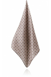 BROWN DAISY DOTS HANDKERCHIEF