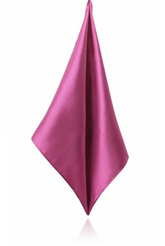 FUSHIA POLY SATIN HANDKERCHIEF