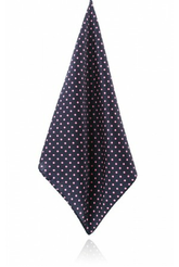 NAVY BLUE WITH PINK POLKA DOT HANDKERCHIEF