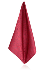 Wine Red Leaf Handkerchief