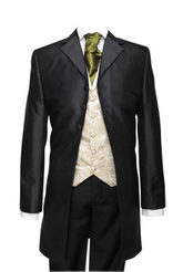 "Frockcoat ""The Dandy"" black silk taffeta"